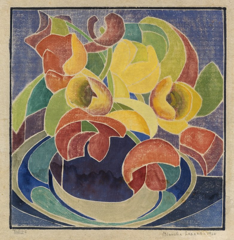 Tulips,1920            Blanche Lazzell