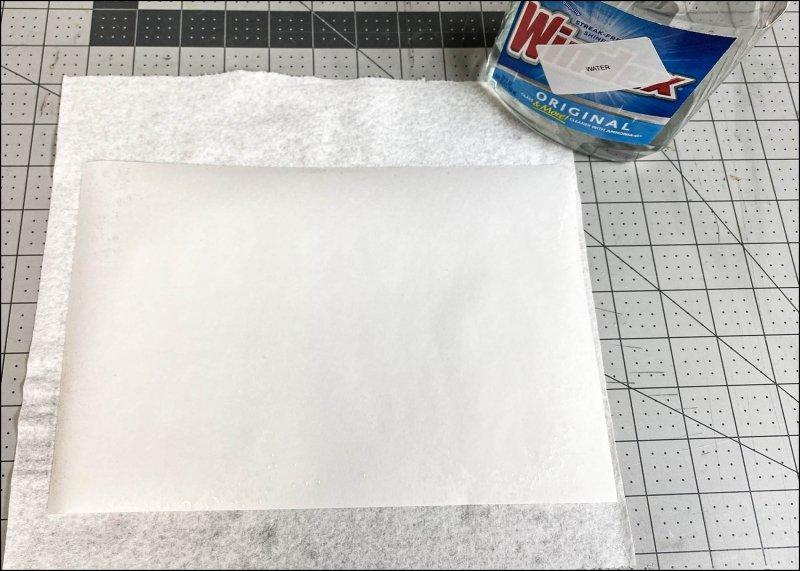 Sprayed paper