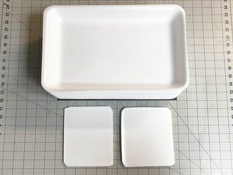 Styrofoam trays