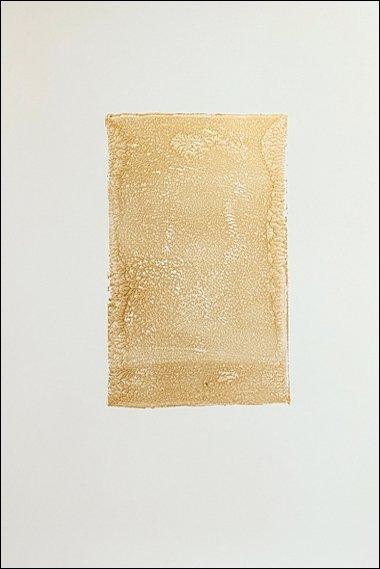 24 Demo gelatin monoprint, gold acrylic