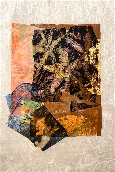 36 Alice acrylic, gold leaf, collage, PicFrame app, emulsion lifts, rice paper