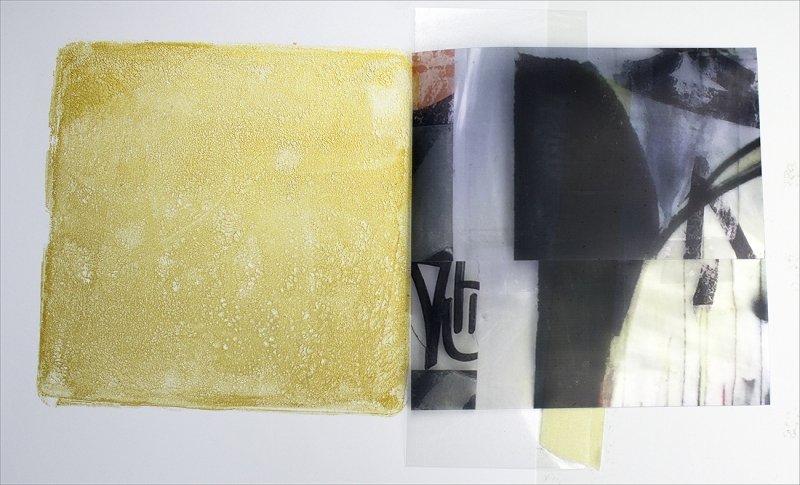Registering film collage for transfer