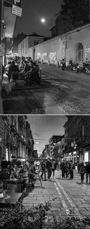 Vita Notturna, La Passeggiata, Bologna, Italy