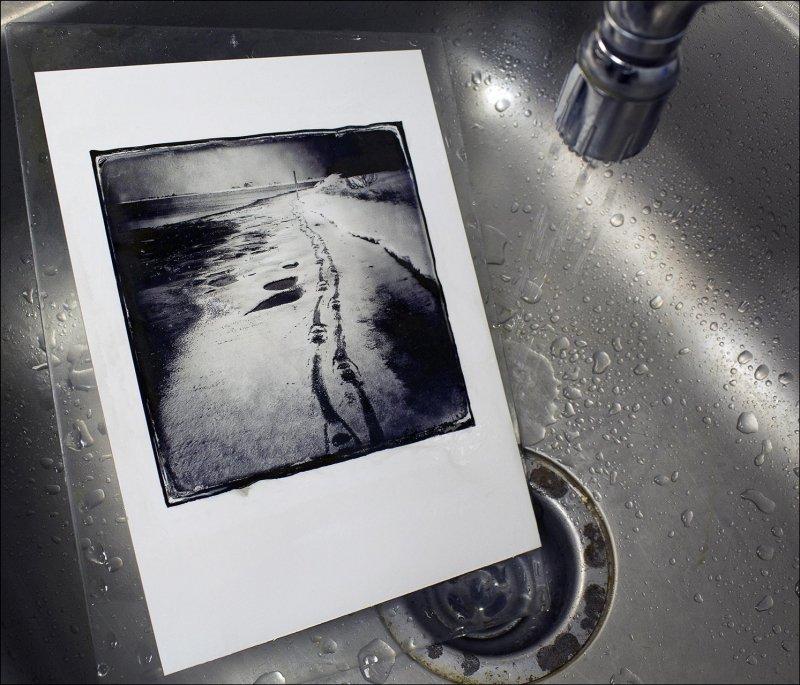 Washing transfer on stonepaper